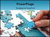 PowerPoint Template - playing puzzle