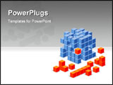 PowerPoint Template - a 3d illustration of a cube puzzle