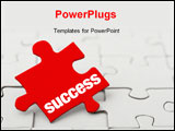 PowerPoint Template - a image of red puzzle
