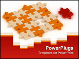 PowerPoint Template - a red piece with some in orange color