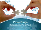 PowerPoint Template - collection of puzzle pieces compositions with backlighting