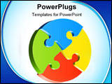 PowerPoint Template - Vector illusration of shapes of jigsaw puzzle
