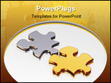 PowerPoint Template - 3d render of puzzle piecess