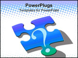 PowerPoint Template - Puzzled question mark