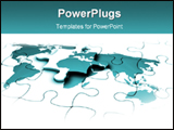 PowerPoint Template - World Puzzle