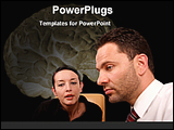 PowerPoint Template - psychologist giving advise to her patient