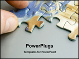PowerPoint Template - a person arranging puzzles