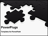 PowerPoint Template - one puzzle separate from other