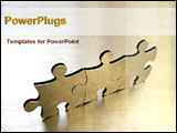 PowerPoint Template - three jigsaw puzzles attached together