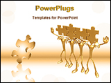PowerPoint Template - a big puzzle with other puzzles