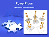 PowerPoint Template - a set of man power puzzles