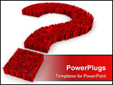 PowerPoint Template - 3d image sign of question. White background.