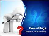 PowerPoint Template - Business concept isolated on white. 3d image