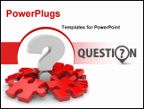 PowerPoint Template - Question with puzzles. Image contain clipping path