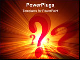 PowerPoint Template - 3d question marks on an orange background
