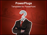 PowerPoint Template - business man with question mark instead of head