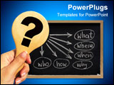 PowerPoint Template - a simple mind map with questions