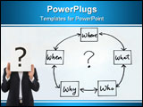 PowerPoint Template - The 5 W: When What Which What and Why