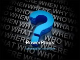 PowerPoint Template - So many questions to answer, why who what where when