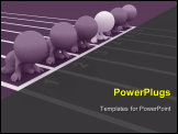 PowerPoint Template - colorful 3D people set on your marks ready to race