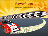 PowerPoint Template - Vector illustration of a fast racing car