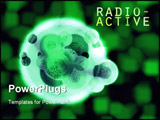 PowerPoint Template - Green Glowing Radioactive Hulk Organic Cell