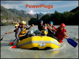 PowerPoint Template - an image of people doing rafting