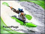 PowerPoint Template - Kayak freestyle on whitewater Russia Msta may 2010