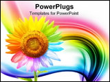 PowerPoint Template - Petals of a sunflower painted in different colors