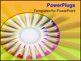 PowerPoint Template - hi res rendering of rainbow pastel in circle.
