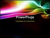 PowerPoint Template - puff of rainbow smoke