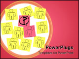 PowerPoint Template - One person in the group raises his hand with a question in this episode of Sticky Note Theatre.