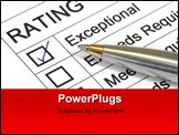 PowerPoint Template - xceptional rating marked with ballpoint pen. Could be performance appraisal customer service rating