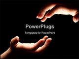 PowerPoint Template - Two hands reaching in the darkness to touch