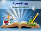 PowerPoint Template - magical world of reading - magic book
