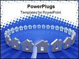 PowerPoint Template - abstract 3d image of house metaphore in circle