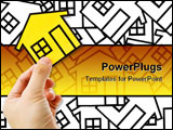 PowerPoint Template - Hand holding a home sign Real Estate Concept