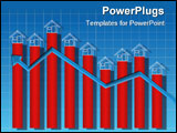 PowerPoint Template - The chart of growth in real estate