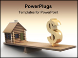 PowerPoint Template - house and dollar on scales.