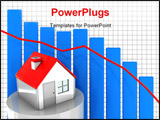 PowerPoint Template - 3d illustration of real estate market graph