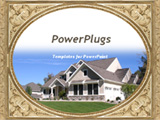 PowerPoint Template - A newly completed house on top of the hill with artistic frame.