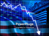 PowerPoint Template - American recession with arrow graph going down
