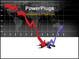 PowerPoint Template - Graph illustrating the world financial crisis and the long way to recovery