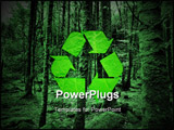 PowerPoint Template - green recycling symbol on the forest background