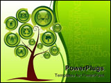 PowerPoint Template - Abstract ecology tree with set of web buttons. Many more ecology images in my portfolio