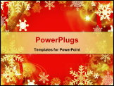 PowerPoint Template - Abstract Red Christmas Background