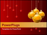 PowerPoint Template - Red colors Christmas and New year
