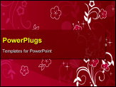 PowerPoint Template - Floral background
