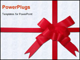 PowerPoint Template - a image of red bow on white