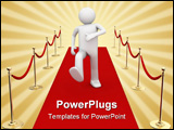 PowerPoint Template - 3d isolated characters on white background series